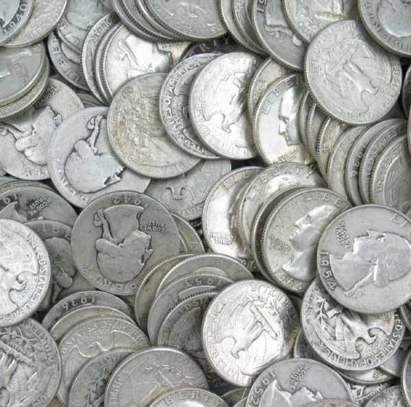 5: Lot of 160 Silver Washington Quarters $40 FV