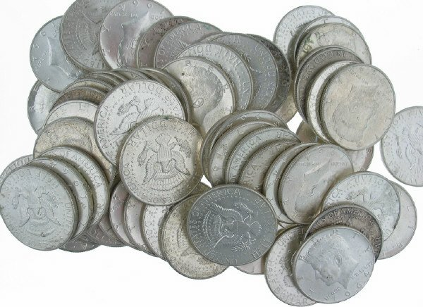 15: Lot of Sixty (60) 1964 Kennedy Halves