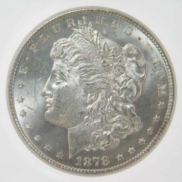 16: 1878-S Morgan Silver Dollar ICG MS64