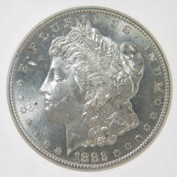 17: 1882-S Morgan SIlver Dollar ICG MS 63 VAM 20