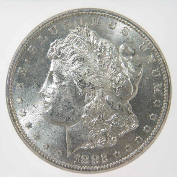 18: 1882-S Morgan Silver Dollar ICG MS63 VAM 20
