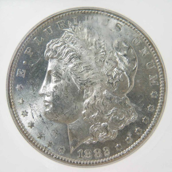20: 1882-S Morgan Silver Dollar ICG MS63 VAM 20