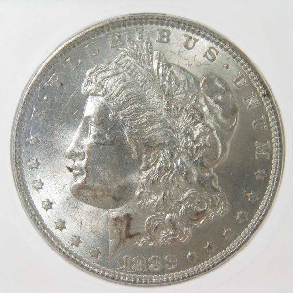 22: 1883 Morgan Silver Dollar ICG MS64