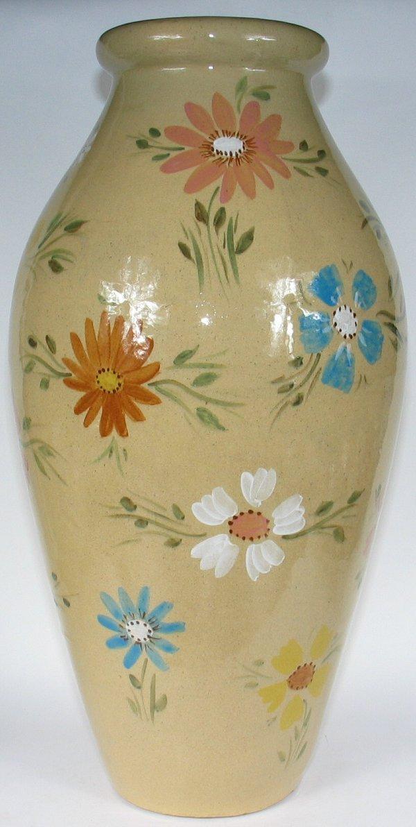 "1: Robinson Ransbottom 25"" Decorated Floor Vase Mint"