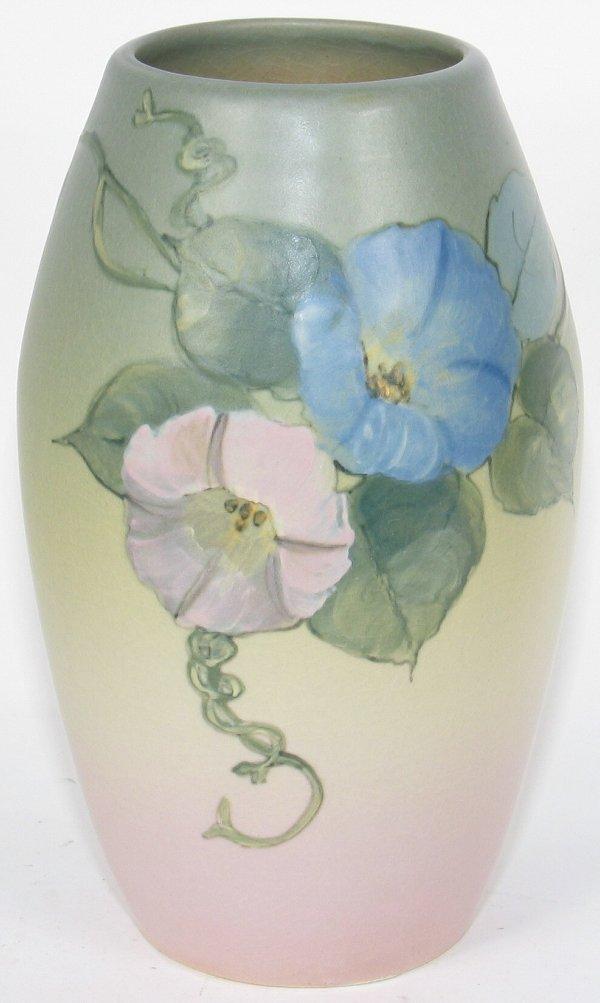 """10: Weller Hudson 8"""" Vase by D. England - Mint"""
