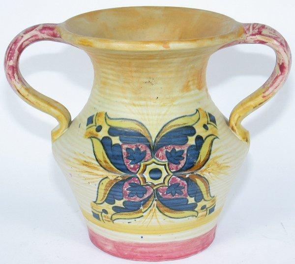 "11: Weller Barcelona 6 5/8"" Handled Vase - Mint"