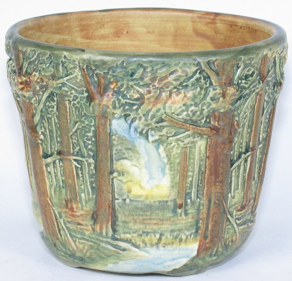 "12: Weller Forest 6 1/2"" Jardiniere - Mint"