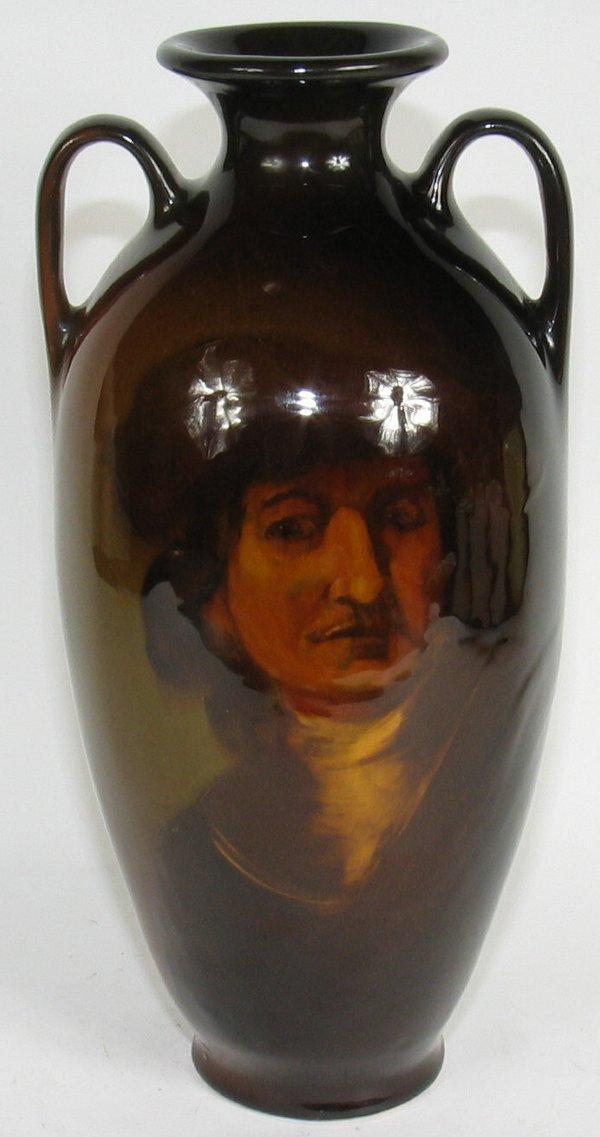 "22: Roseville Rozane 12"" Portrait Vase"