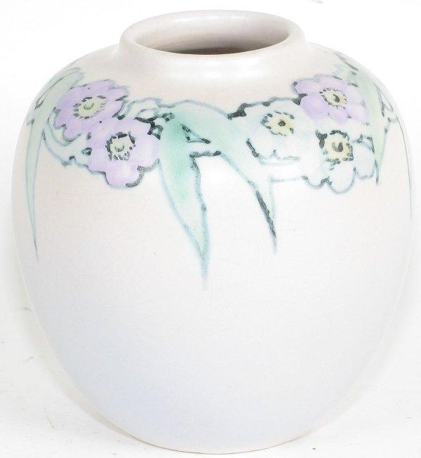 "24: Weller Hudson Perfecto 4+"" Vase by Leffler - Mint"