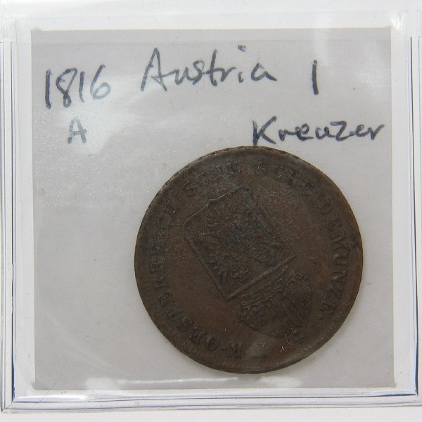 1007: Austria Coin Collection (5) 1774 - 1885