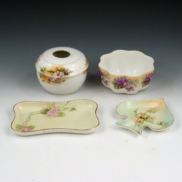 10: Lot of Four (4) Porcelain Pieces - Nippon, Prussia