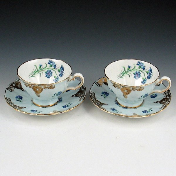 10A: Lot of Two (2) Grosvenor Cups & Saucers
