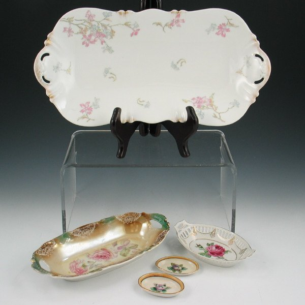 11: Lot of Five (5) Decorative Floral Trays - Noritake