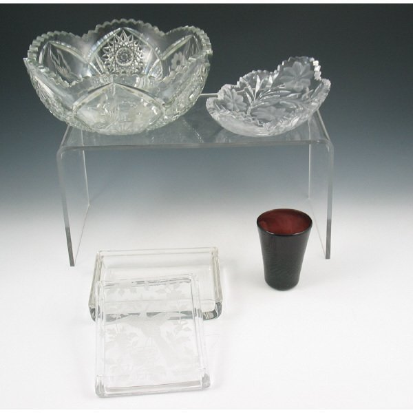 18: Lot of Four (4) Pieces of Glassware