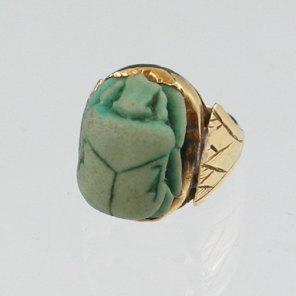 200: Ancient Egyptian 18K Gold Scarab Ring