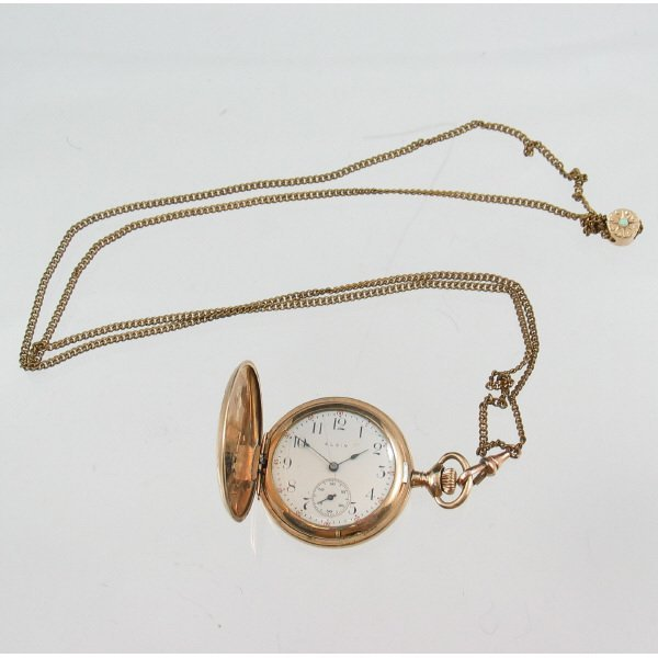 200B: Elgin Grandmother's Watch w/ Chain