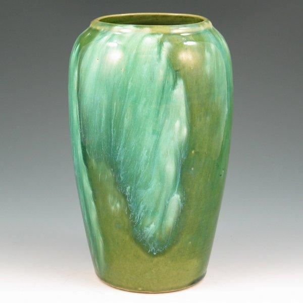 """5: Brush McCoy Green Onyx 8"""" Vase - Mint"""