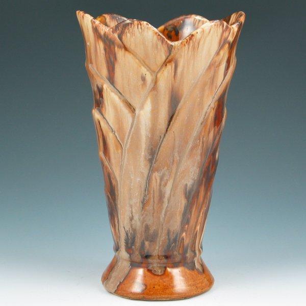 """9: Brush McCoy Onyx 8 1/8"""" Vase"""