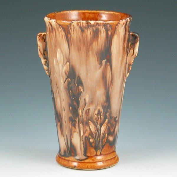 "11: Brush McCoy Onyx Floral 6"" Vase"