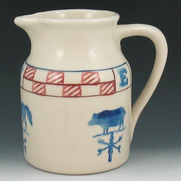 """16: Country Themed 7 5/8"""" Milk Pitcher - Mint"""
