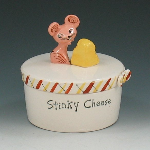 24: Holt Howard 1958 Stinky Cheese Covered Jar - Mint