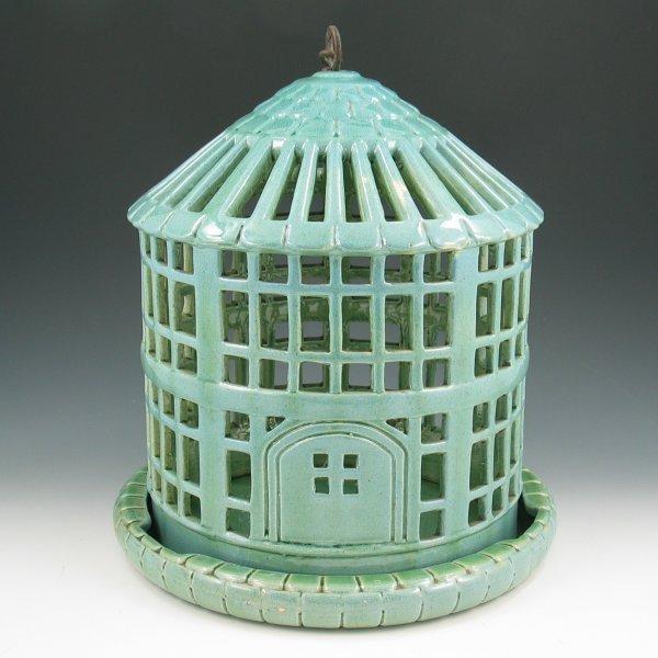 """281: Weller 11"""" Bird Cage - Incredible & Rare"""