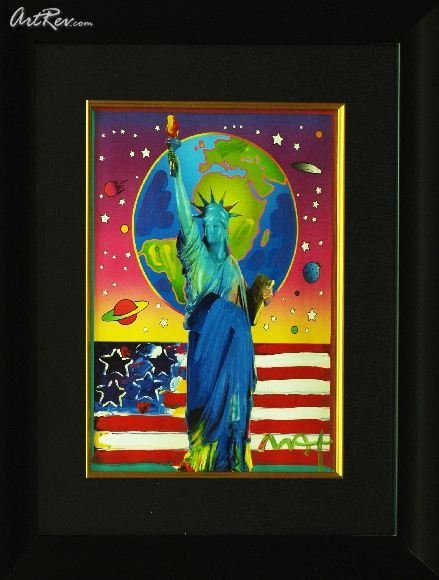 Peace On Earth by Peter Max - Original Mixed Media