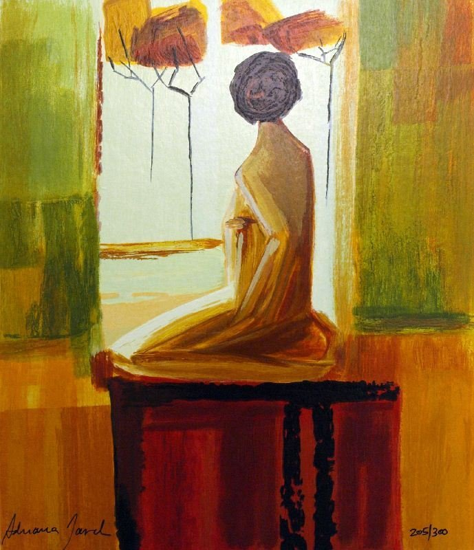 Contemplation by Adriana Naveh - Serigraph on Paper -