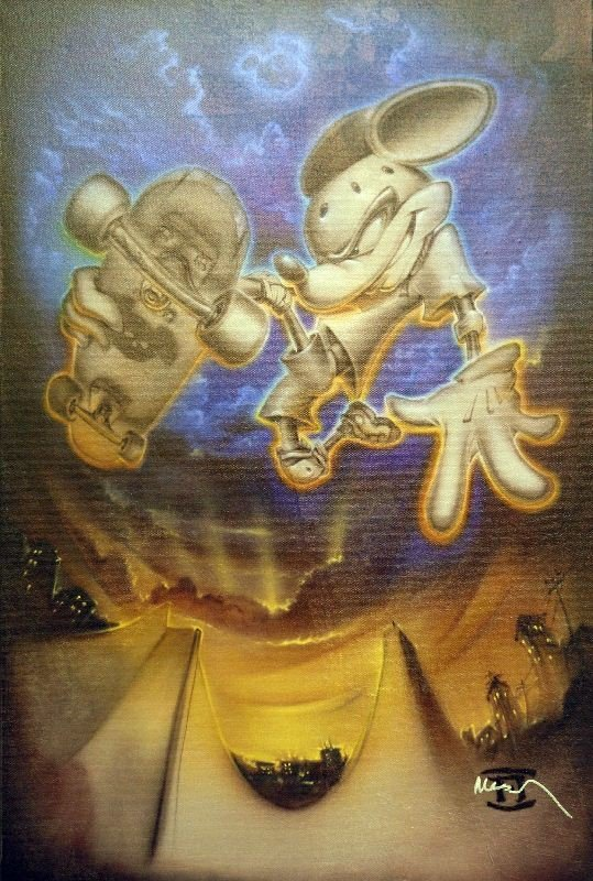 Grind Mouse by Noah - Giclee on Canvas - Animation &