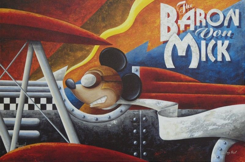 The Baron Von Mik by Mike Kungl - Giclee on Canvas -