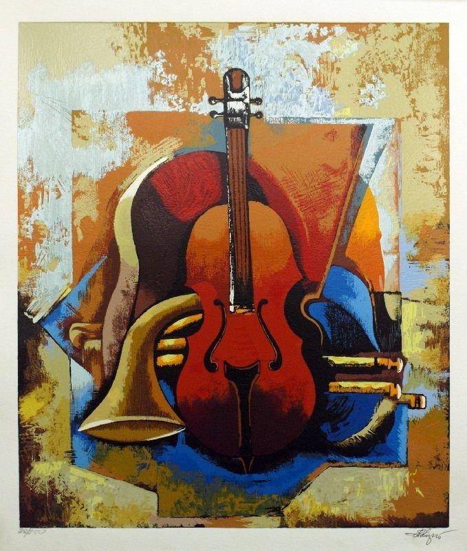 Symphony I by Igor Kovalev - Serigraph on Paper