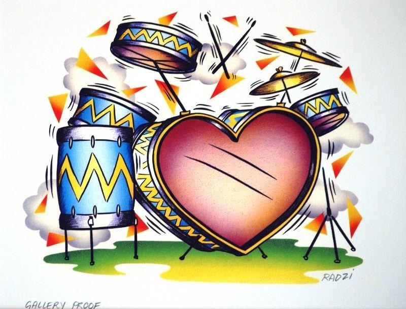 Heart Series - Drum Set by Steve Radzi - Giclee