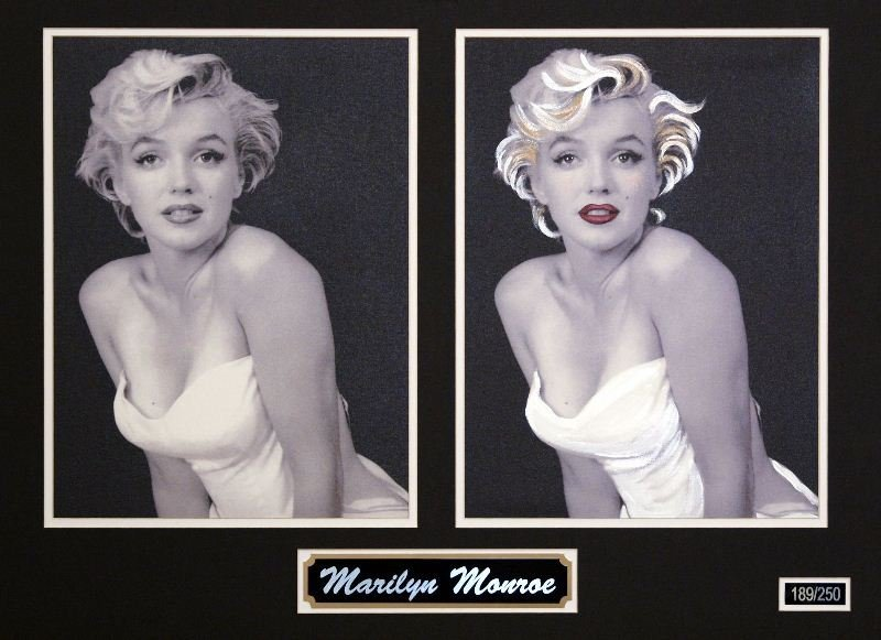 Marilyn Monroe by Unknown Artist - Hand Embellished