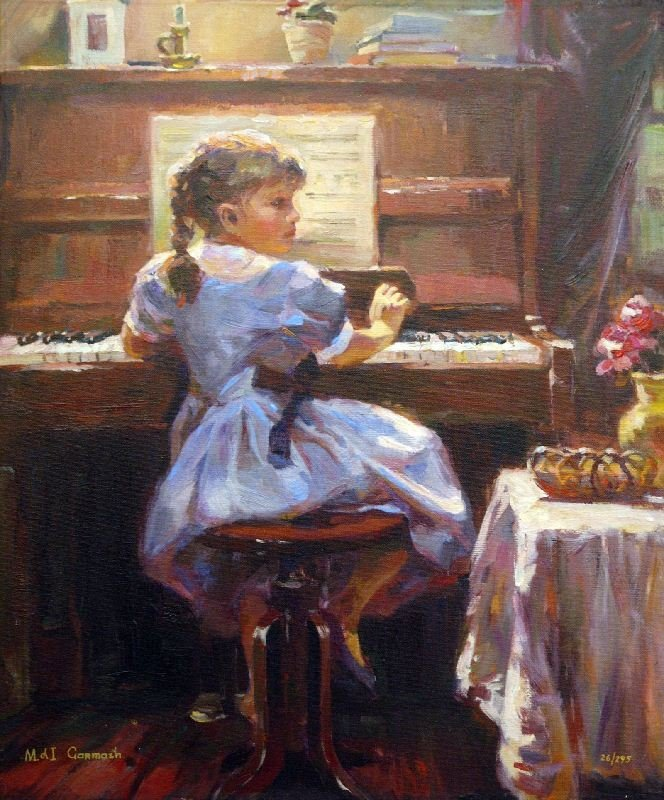 The Music Lesson by Michael and Inessa Garmash - Giclee