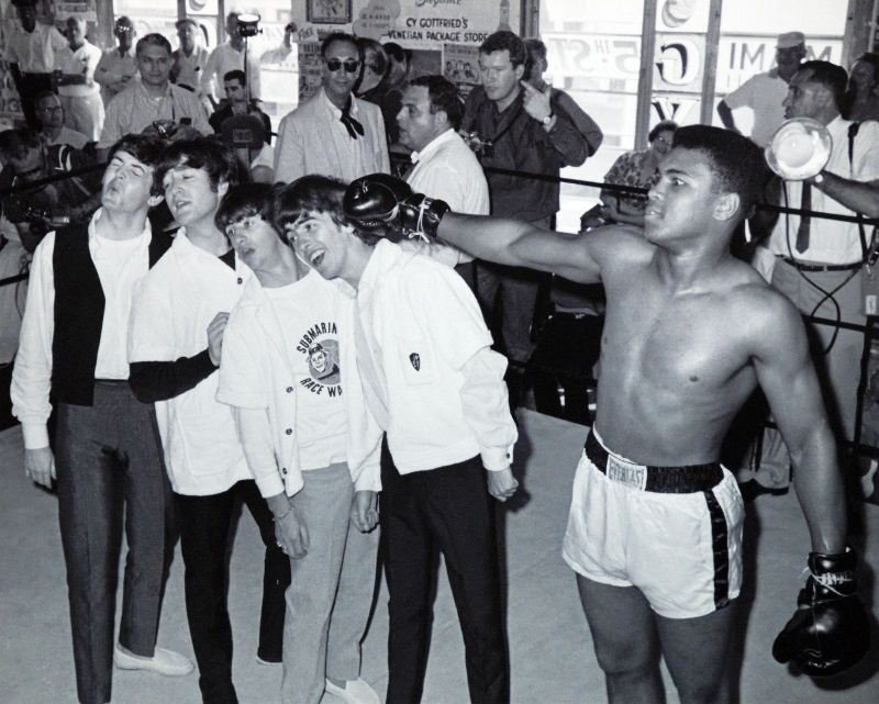 Ali With The Beatles by Unknown Artist - Memorabilia