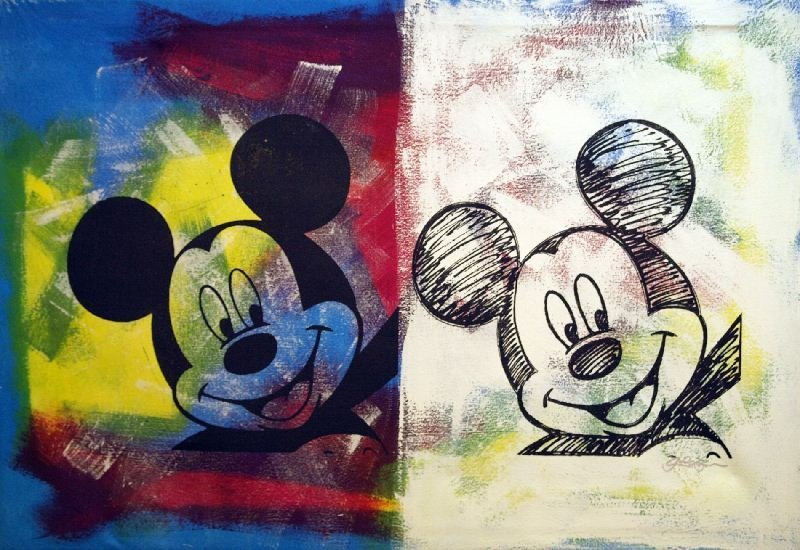 Mickey Mouse by Gail Rodgers - Mixed Media - Animation