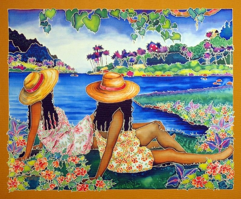 Tahiti Smiles by Susan Patricia - Giclee on Canvas -