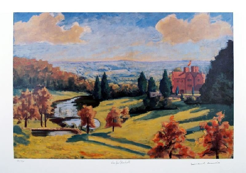View from Chartwell by Sir Winston Churchill -