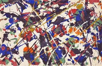 Untitled Drip Painting by Etienne Roudenko - Original