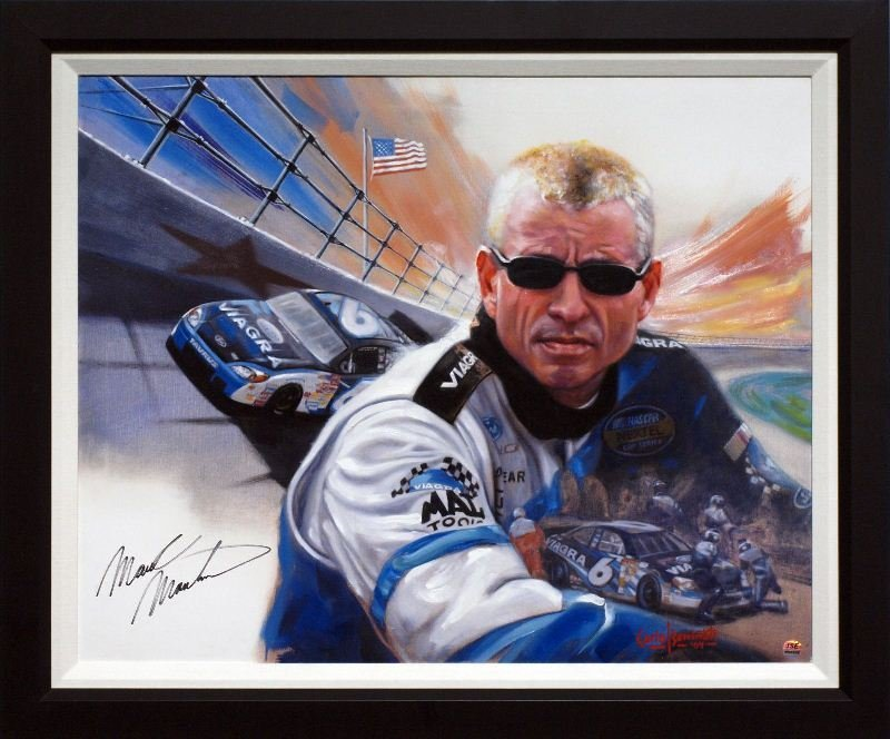 Mark Martin - Signed by Mark Martin by Carlo Beninati -