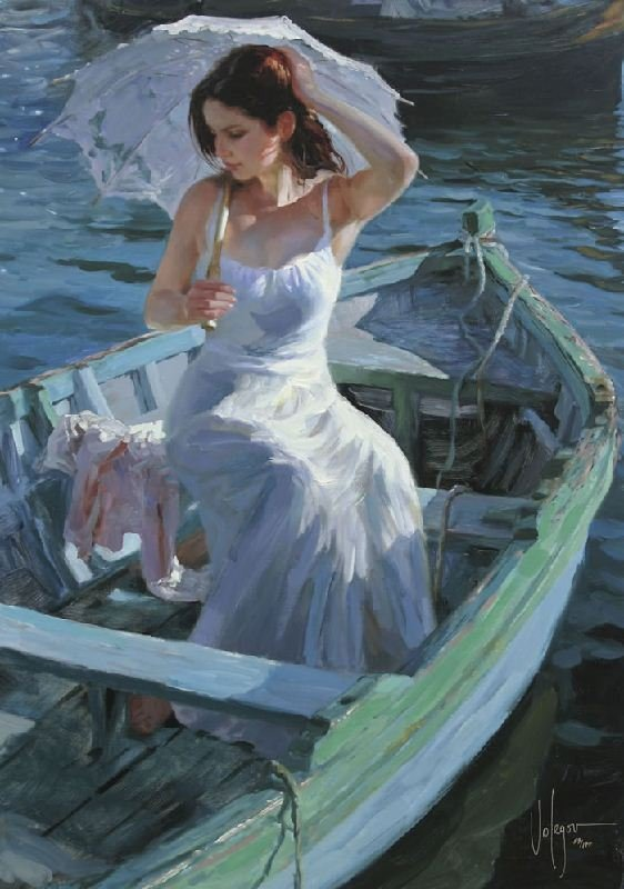 Lakeside Reflection by Vladimir Volegov - Hand