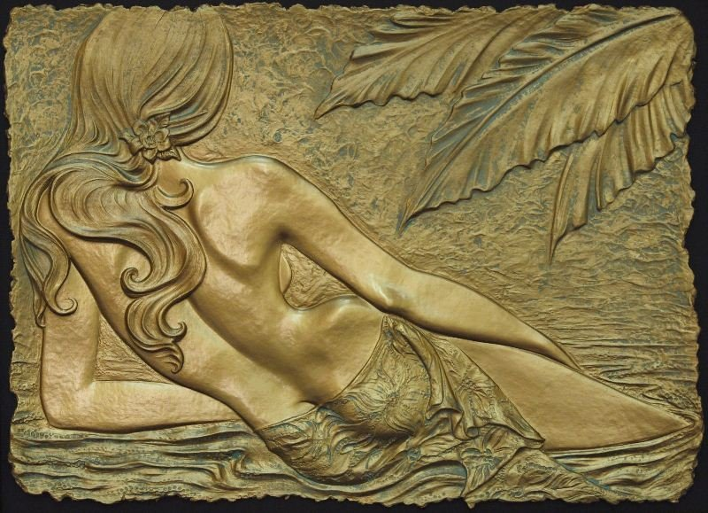 Tropical Beauty by Roberta Peck - Handcast Paper - Nude