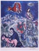 Sur la Route de Village by Marc Chagall - Lithograph on