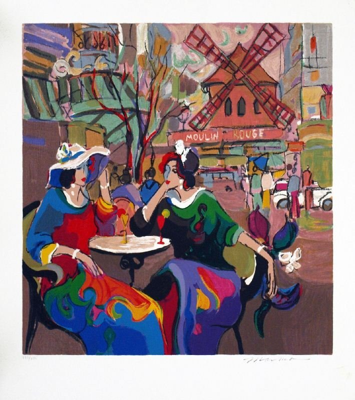 City Cafe Paris by Isaac Maimon - Serigraph on Paper -