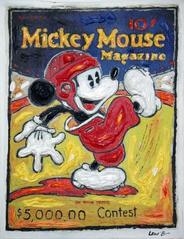 Football Mickey by Leslie Lew - Mixed Media - Animation
