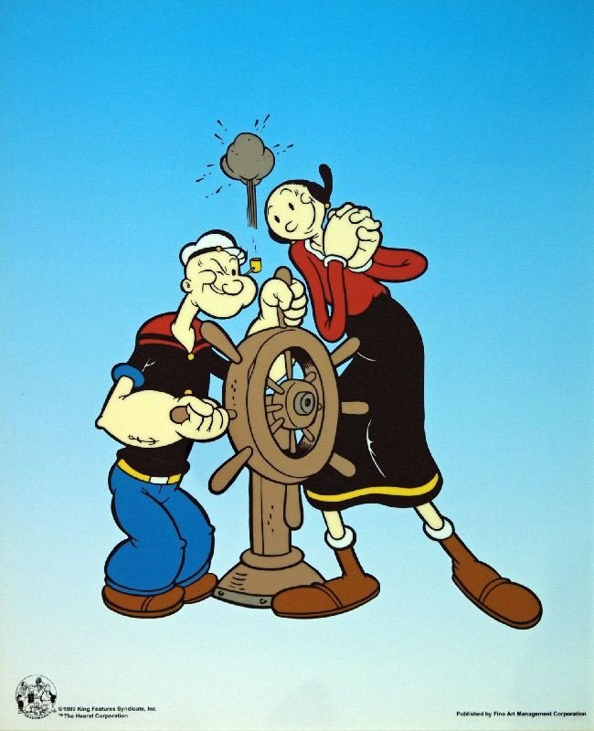 Popeye Capt. Wheel by King Features Syndicate -