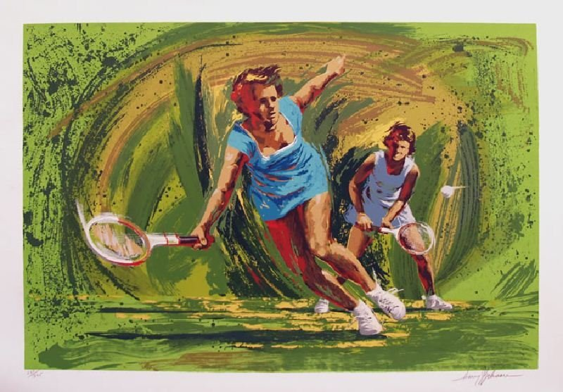 Tennis by Harry Schaare - Serigraph on Paper - Sports