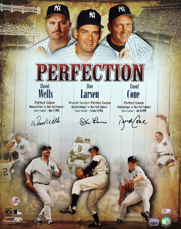 Yankee Perfection - Larsen, Cone, Wells - Signed by