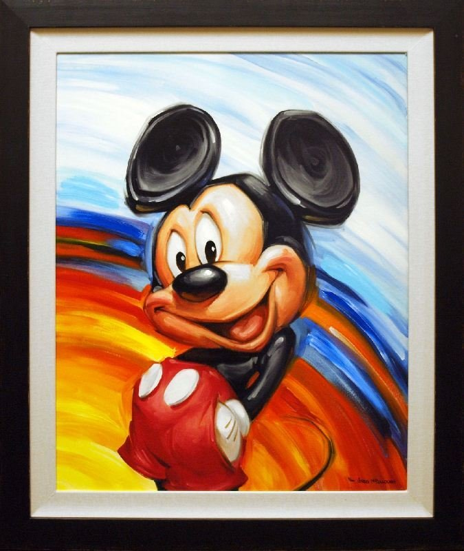 Rainbow Mickey by Greg McCullough - Giclee on Board -