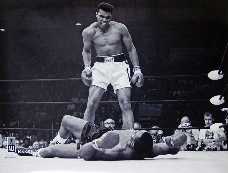 Muhammad Ali Over Sonny Liston by Unknown Artist -